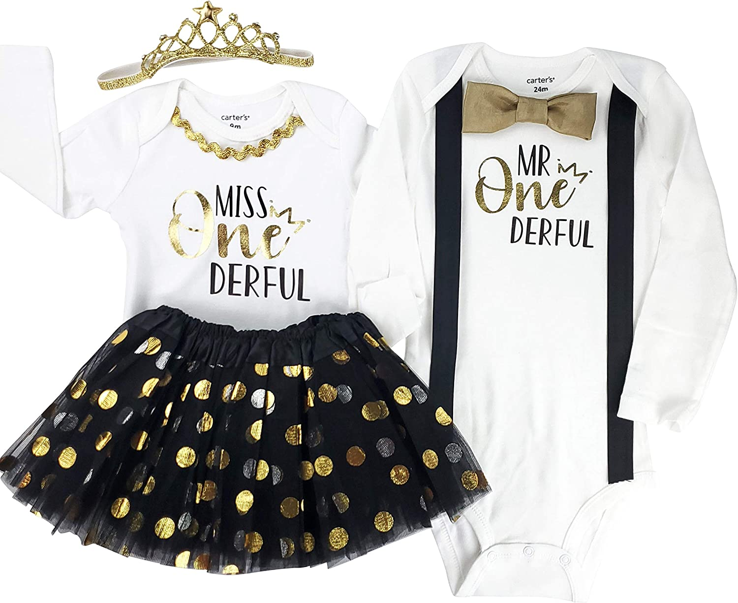 Perfect Pairz Boy Girl Twin Outfits 1st Birthday Twins Baby Clothing Twin Baby Gifts