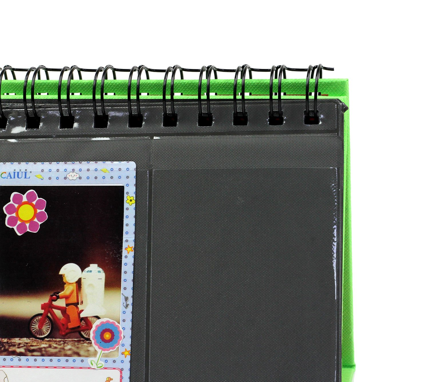 """Calendar Mini Photo Album Series- Owmoon Mini Portable 3-inch Desk Calendar Picture Holder Which Have 68 Pockets for up to 2x3""""Photos, Instax Picture,Name-card,Memo Ticket Holder,color:Purple"""