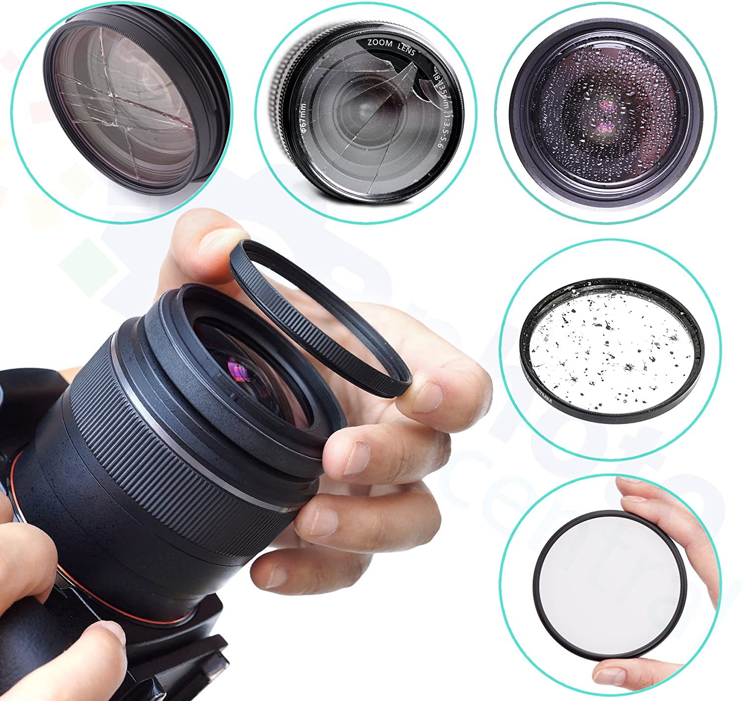 Ultraviolet UV Multi-Coated HD Protection Filter with Lens Cap Cover for Canon EF 24mm f//1.4L USM Lens
