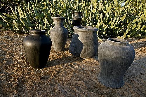 Amedeo Design ResinStone 2509-78B Sidon Vase, 23 by 23 by 24-Inch, Black