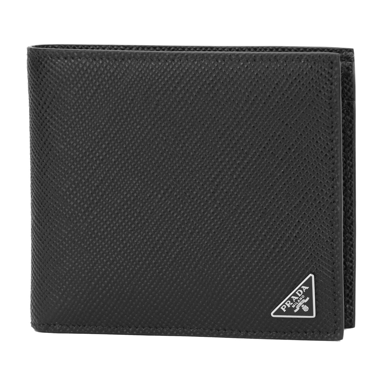 プラダ(PRADA) 2つ折り財布 2MO738 2E3E F0002 サフィアーノ キュイール ブラック 黒 [並行輸入品] B0777GZPG3