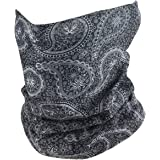 Outdoor Face Mask - Perfect for Motorcycle Riding, Skiing, Snowboarding, Fishing - Work as Sun Shield, Dust Mask, Neck Gaiter, Balaclava, Bandana - Breathable Seamless Microfiber (Paisley)