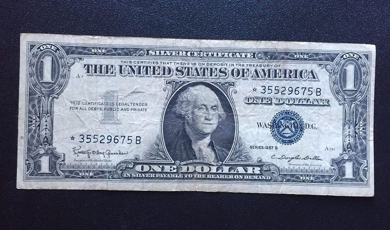 Amazon 1957 B 1 Silver Certificate Star Note Fine