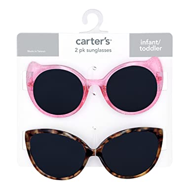 53285c4a09c Amazon.com  Carter s 100% Uva-uvb Protected Baby Sunglasses (Girl ...