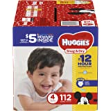 HUGGIES Snug & Dry Diapers, Size 4, 112 Count (Packaging May Vary)