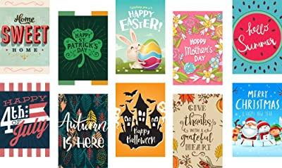 Seasonal Garden Flags Set
