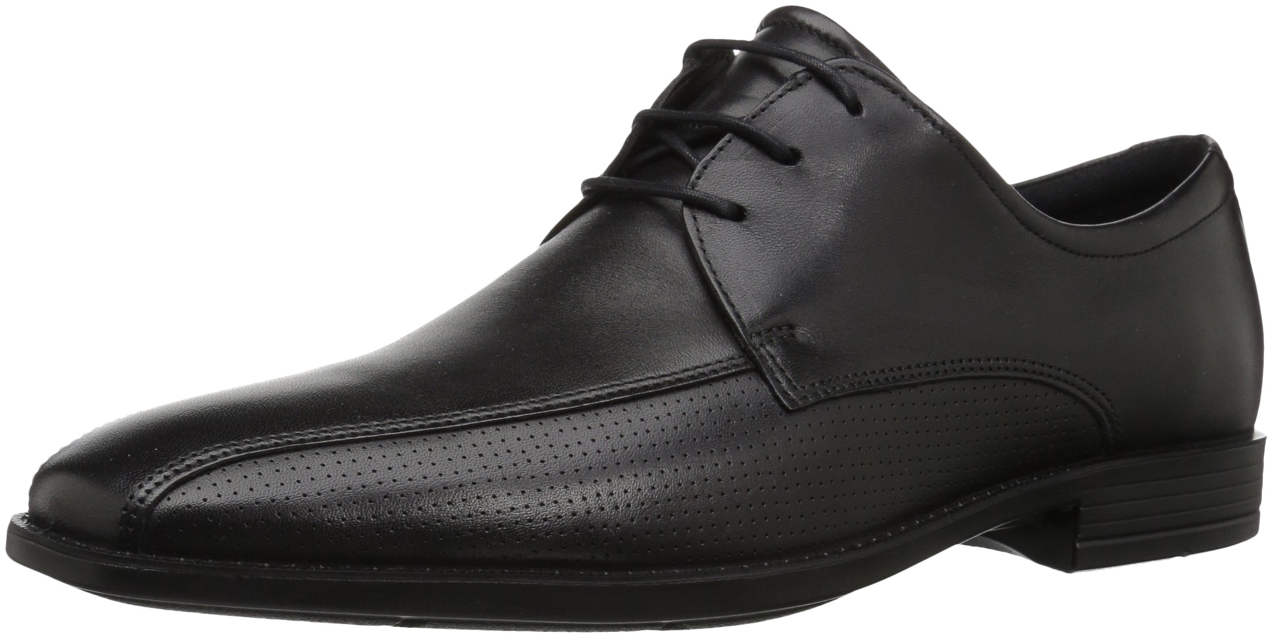 ECCO Men's Edinburgh Perforated Tie Oxford, Black/Black Perforated, 41 EU/7-7.5 M US by ECCO