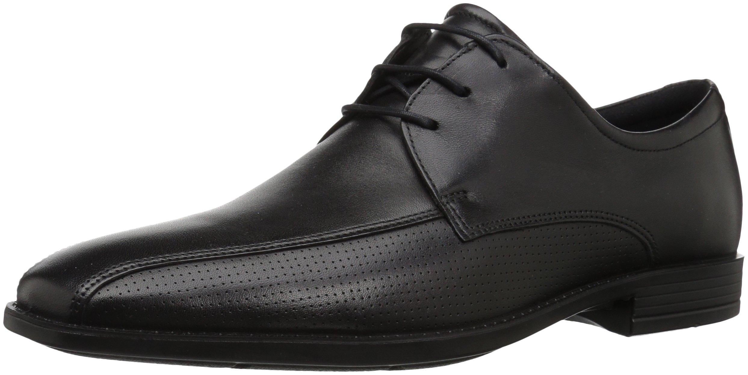 ECCO Men's Edinburgh Perforated Tie Oxford, Black/Black Perforated, 39 EU/5-5.5 M US