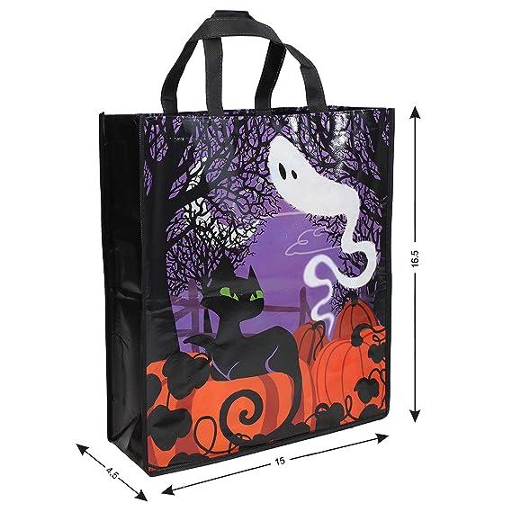 Amazon.com: 12 bolsas grandes para Halloween, bolsas de ...