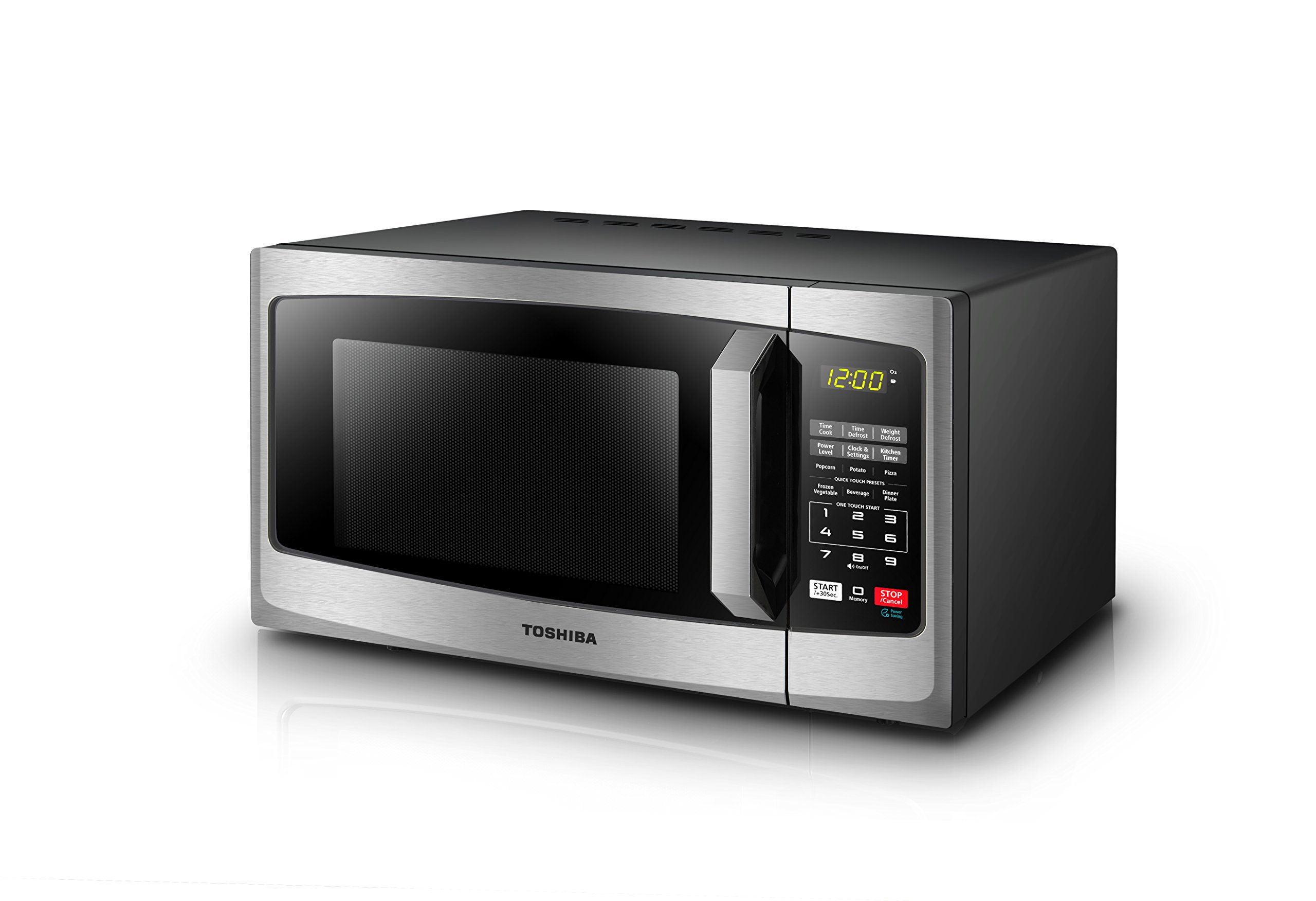 Toshiba EM925A5A-SS Microwave Oven with Sound On/Off ECO Mode and LED Lighting 0.9 cu. ft. Stainless Steel by Toshiba (Image #3)