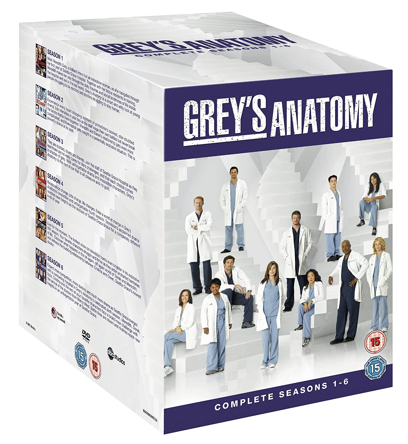 Grey\'s Anatomy Season 1-6 [DVD]: Amazon.co.uk: Ellen Pompeo, Sandra ...