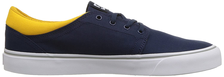 DC Men's Trase TX Unisex Skate Shoe B0758VK1VF 8 D D US Navy/Yellow