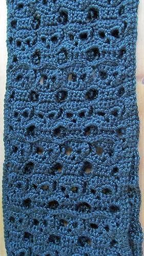 Amazon Crochet Skull Scarf Black Reversible Handmade