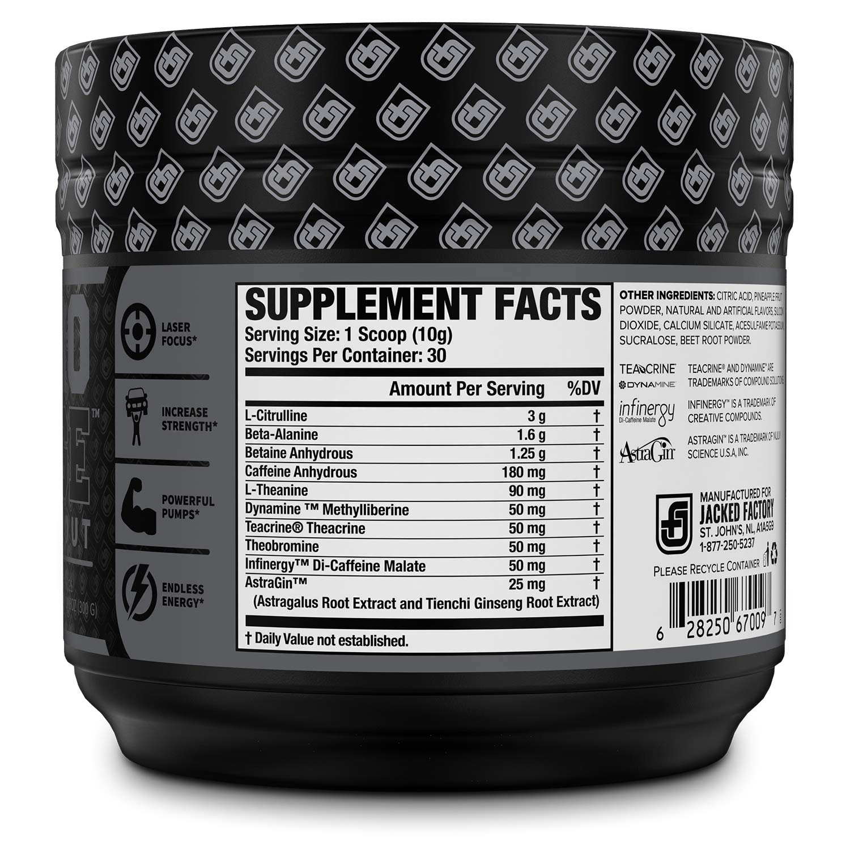 NITROSURGE Black Pre Workout Supplement - Nootropic Preworkout Energy Powder & Creatine...