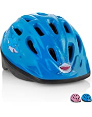KIDS Bike Helmet – Adjustable from Toddler to Youth Size, Ages 3-7 - Durable Kid Bicycle Helmets with Fun Aquatic Design Boys and Girls will LOVE - CPSC Certified for Safety and Comfort - FunWave