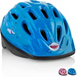 KIDS Bike Helmet – Adjustable from Toddler to Youth Size, Ages 3-7 - Durable Kid Bicycle Helmets with Fun Aquatic Design Boys and Girls will LOVE - CSPC Certified for Safety and Comfort - FunWave