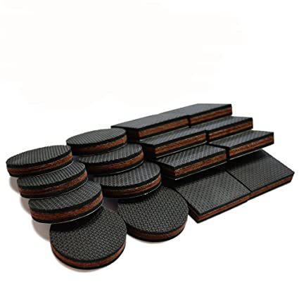NON SLIP Furniture Pads 16 PCS! Premium 2u201d Furniture Feet With Rubber U0026 Felt