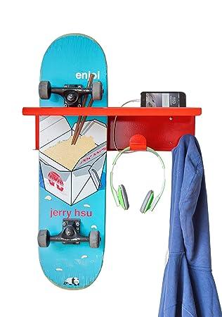 forza designs skateboard wall mount rack hanger shelf