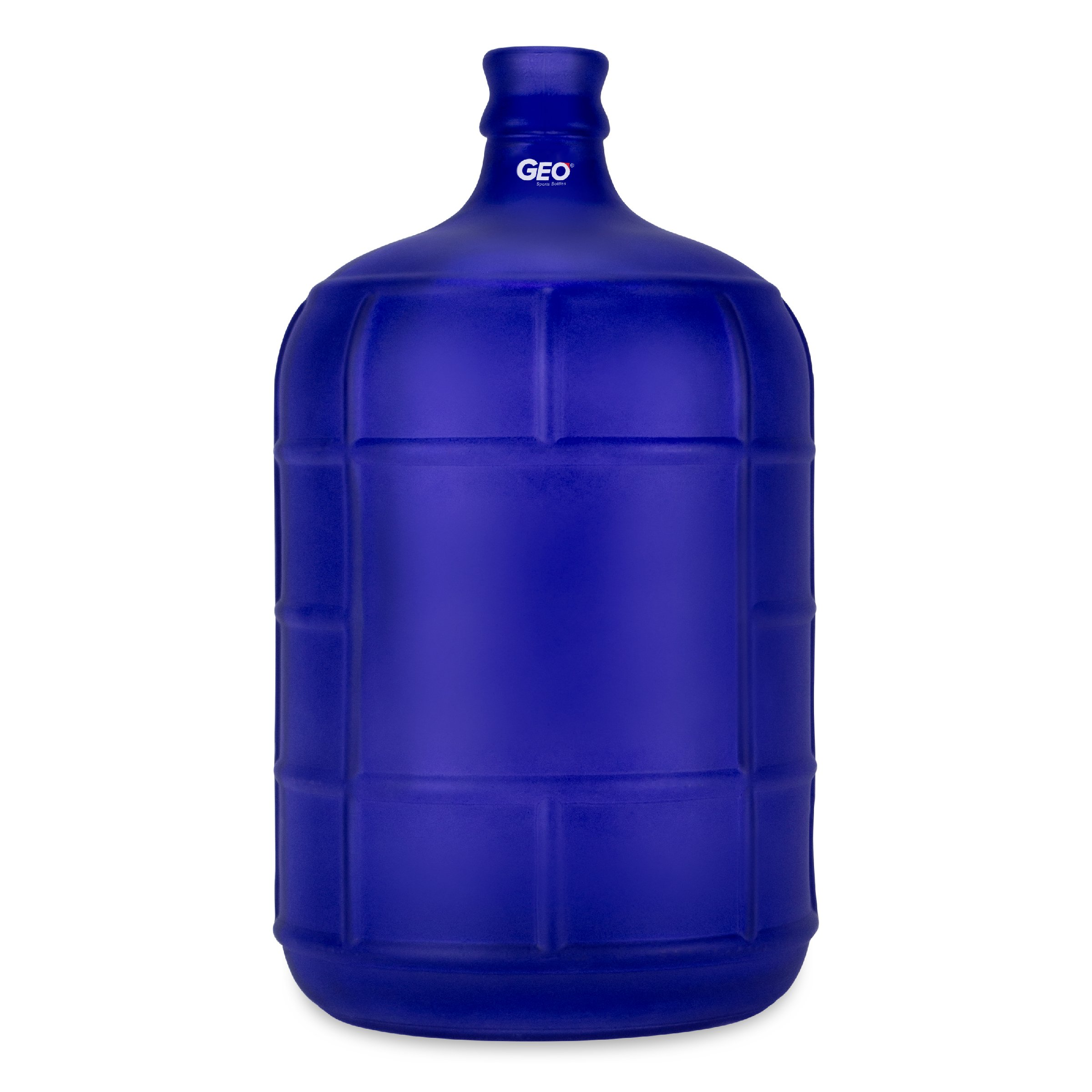 Geo Sports Bottles 3 Gallon Round Glass Carboy fits 30mm Cork Finish or 55mm Push Cap Home Brew (Frosted Dark Blue)