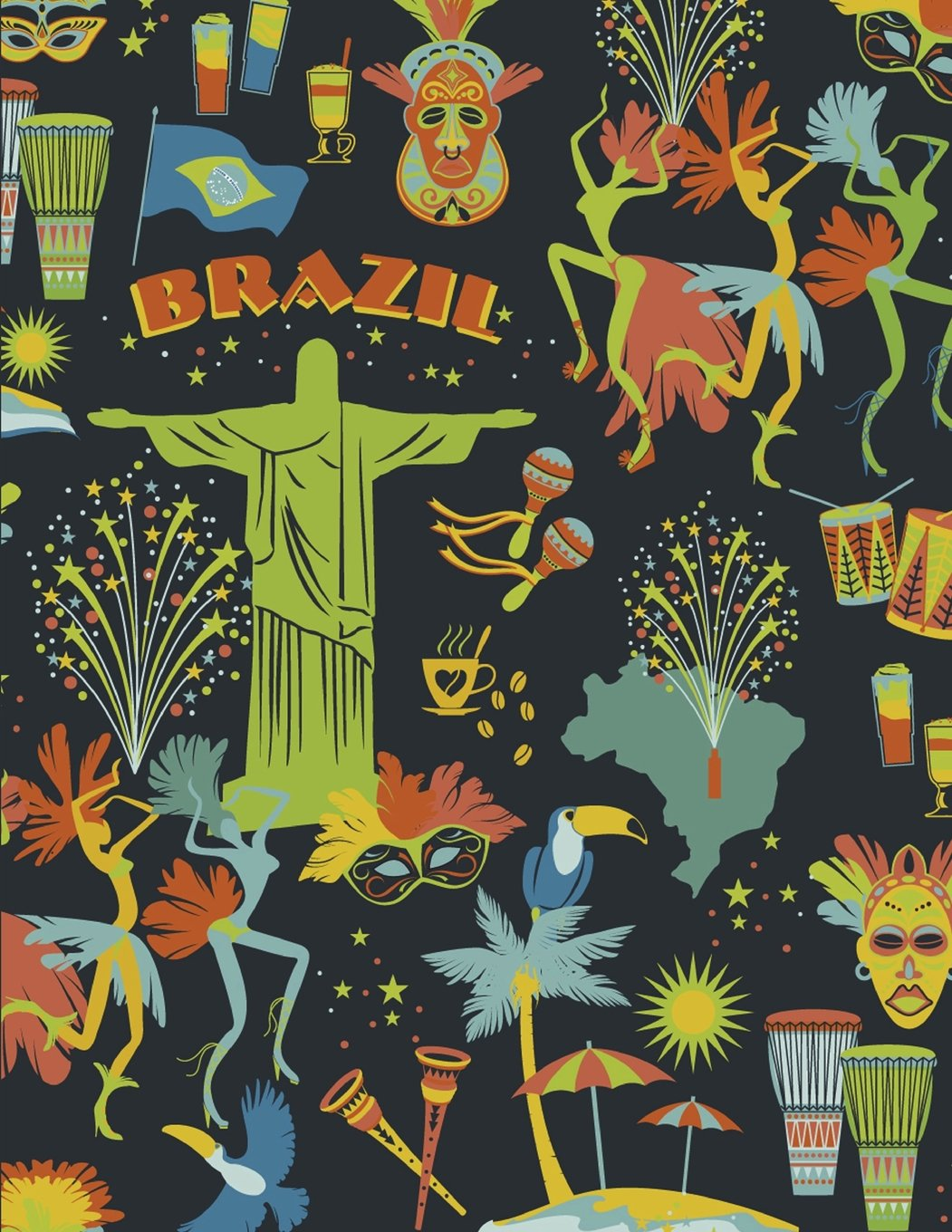 Download Brazil Notebook: Festival Travel Journal Notebook Lined Ruled Page Paper For Kids Teen Girl Boy Women Men Traveler Great For Writing Diary Note Pad ... Inches, 121 Lined Page, Paperback) (Volume 1) pdf