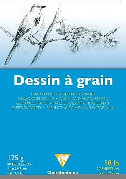 Bloc Dessin Grain Fin 21x29,7 20f 224g