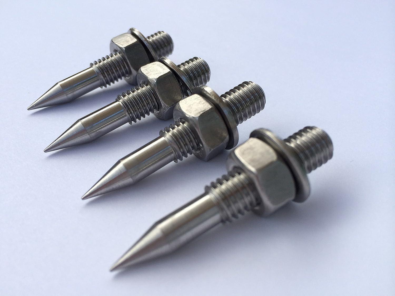 Punte M8 in acciaio inox per altoparlanti audio HiFi (set da 4) Solid Spikes LYSB0139617A8-ELECTRNCS
