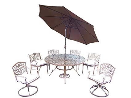 amazon com oakland living mississippi 9 piece dining set with 60