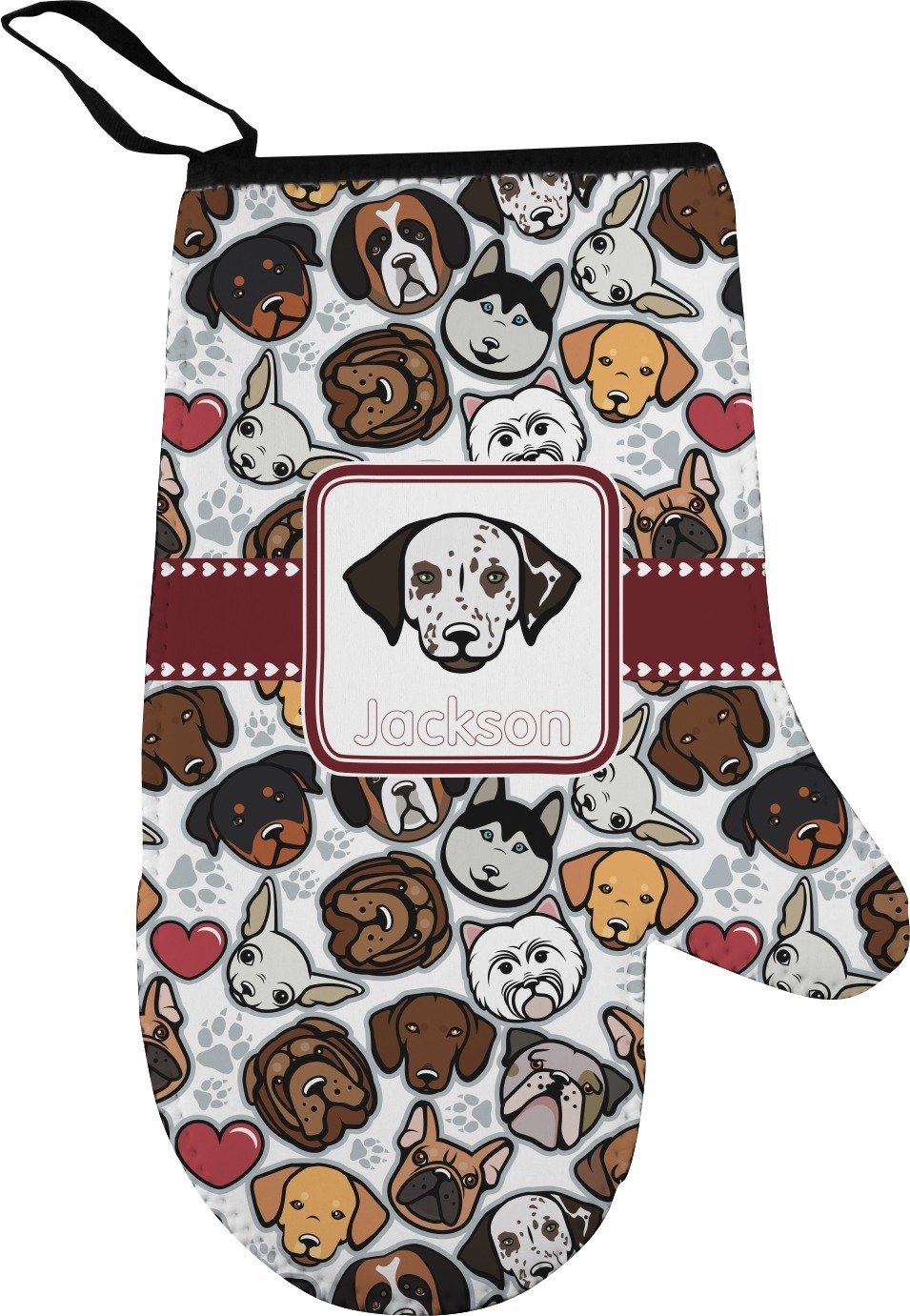 RNK Shops Dog Faces Right Oven Mitt (Personalized)