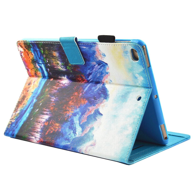 iPad Mini 2 Tablet Case,iPad Mini 3 Smart Cover,Slynmax Flip Folio Leather Notebook Cover Bookstyle Folding Premium PU Leather Wallet Case Beautiful Cave Pattern Inner Soft iPad Mini 1 Case