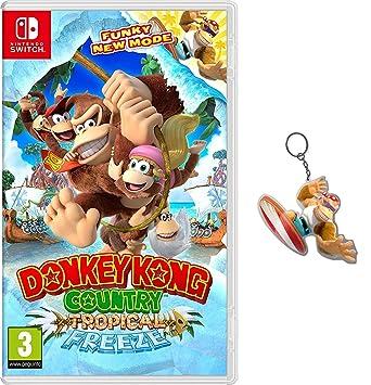 Donkey Kong Country: Tropical Freeze + Llavero: Amazon.es ...