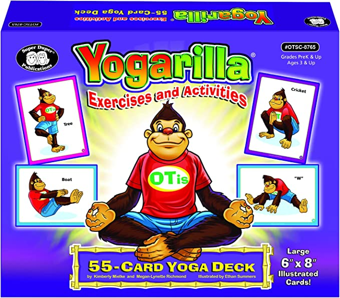 Super Duper Publications Yogarilla Exercises and Activities - Yoga Flash Card Deck Educational Learning Resource for Children