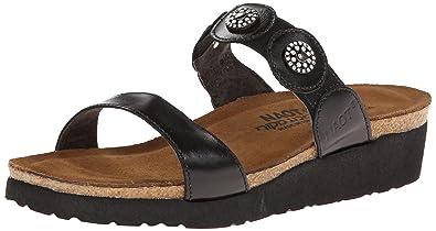 Naot Women's Marissa Wedge Sandal,Black Madras Leather,35 EU/4 ...