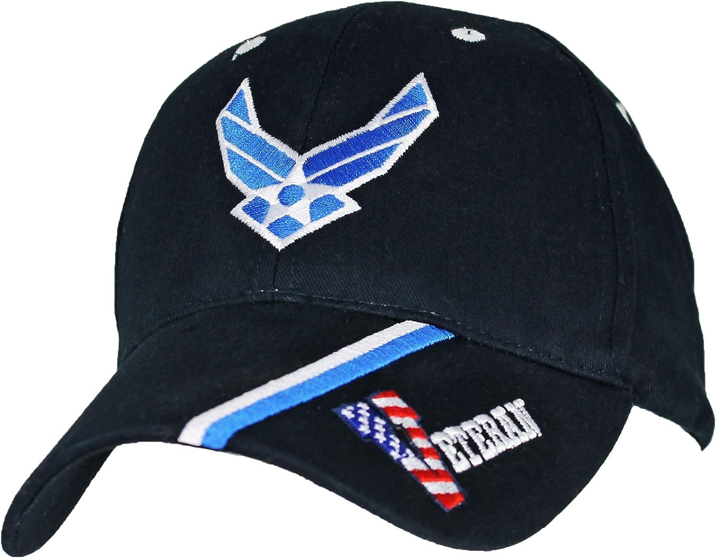 Navy Blue Eagle Crest U.S Air Force Veteran Cap Adjustable