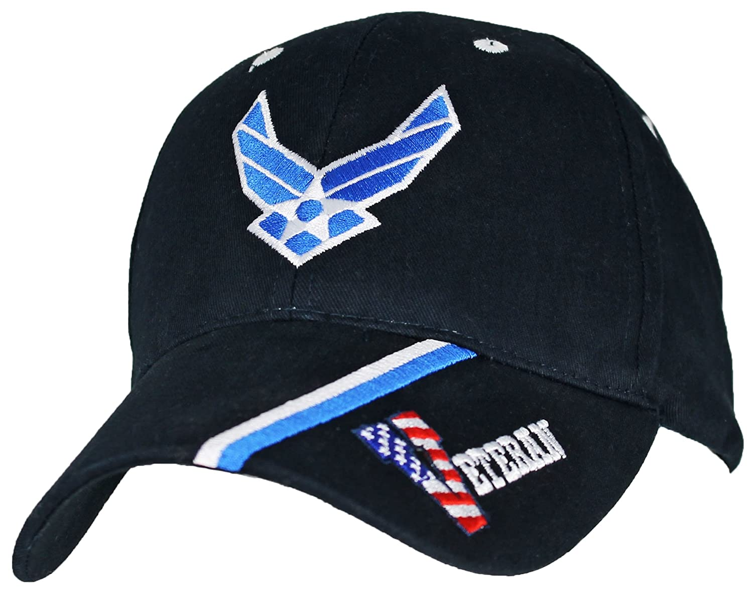 0d5187c140 Amazon.com  U.S. Air Force Veteran Baseball Cap. Navy Blue  Clothing