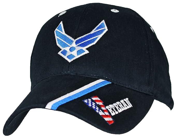 947e1171d58 Amazon.com  U.S. Air Force Veteran Baseball Cap. Navy Blue  Clothing