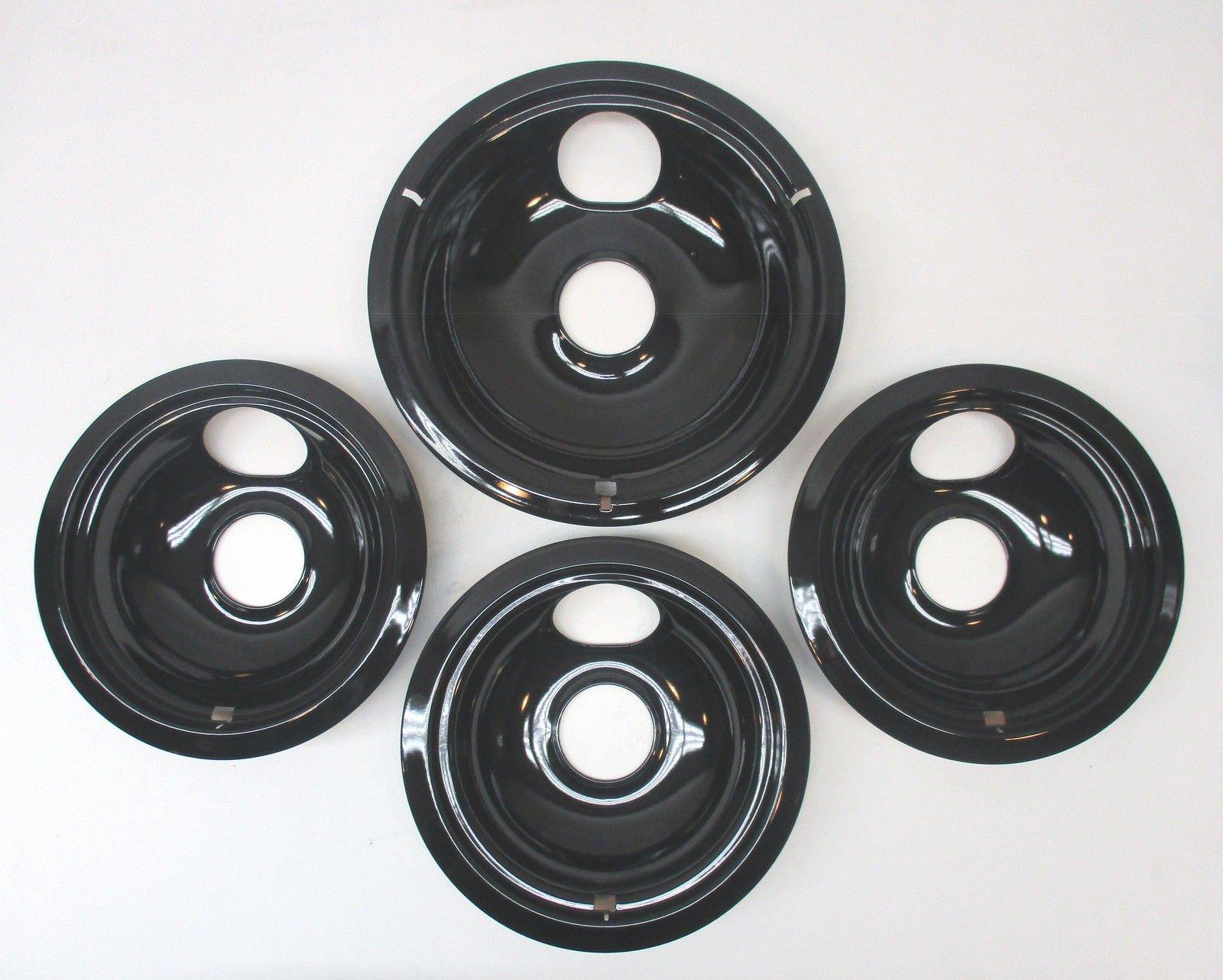 (O&HP) CB9 Range Stove Porcelain Drip Pans Bowls Set 3 and 1