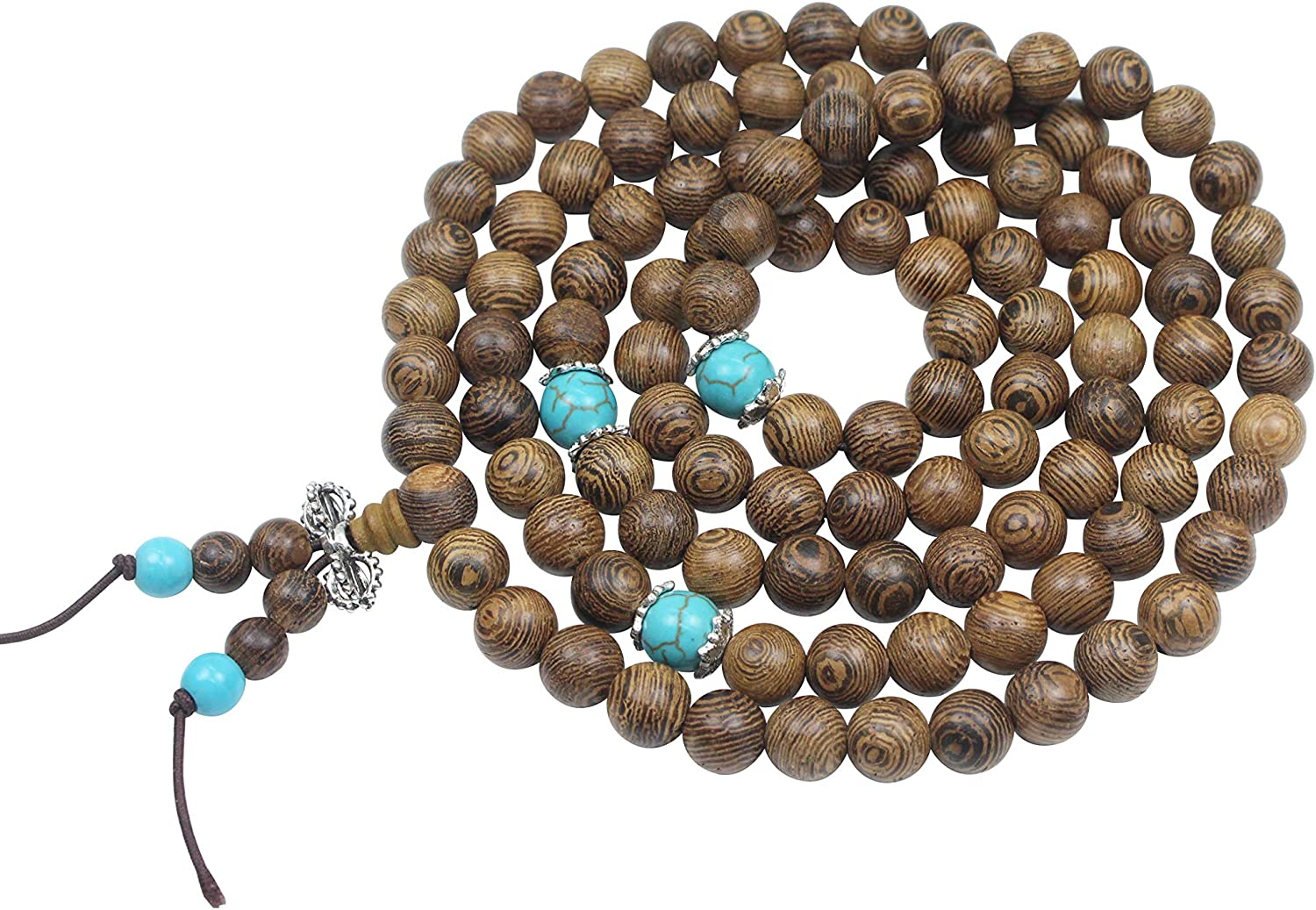 Prometis 108pcs Unisex Bracelet /& Necklace Elastic Natural Sandalwood Beads Strand Wood Prayer Beads Jewelry Gift for Your Loved Ones