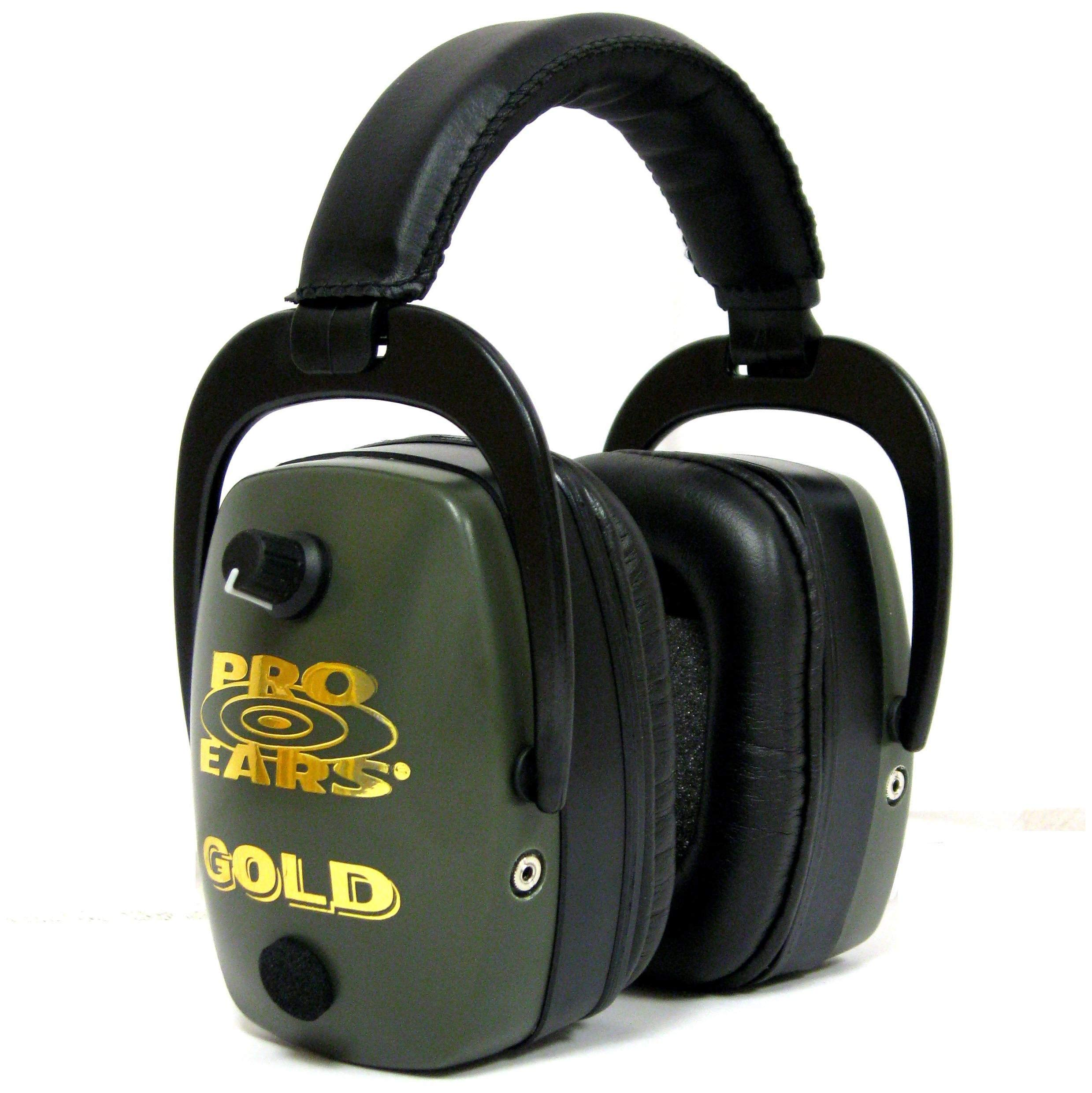 Pro Ears Pro Mag Gold Hearing Protection and Amplification Ear Muffs, Green