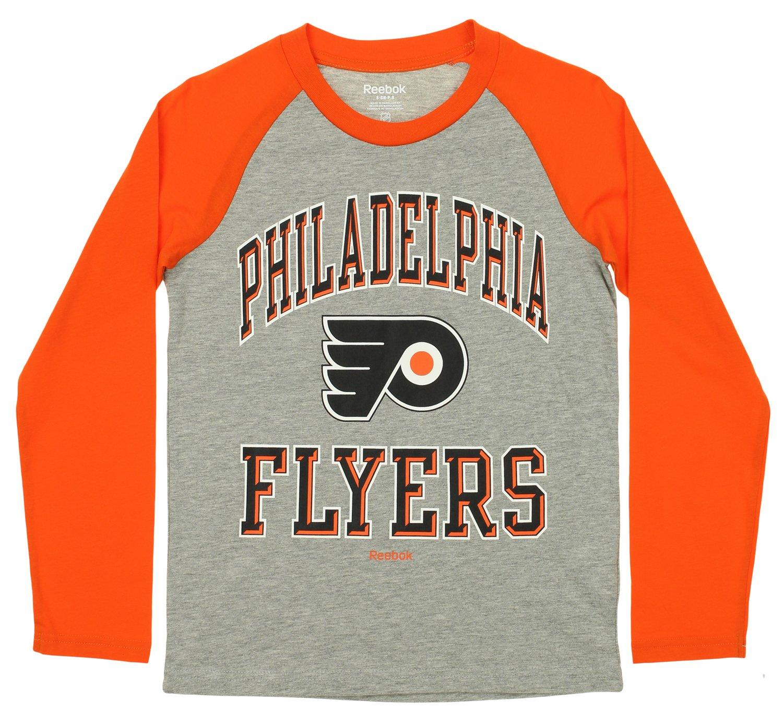 人気定番の リーボックDiv Flyers。/Outerstuff NHL Youth NHL L/SラグランTシャツ(5889 m) YS B01M1NZ3G7 Flyers B01M1NZ3G7, Food Forest:8bf22bd8 --- a0267596.xsph.ru