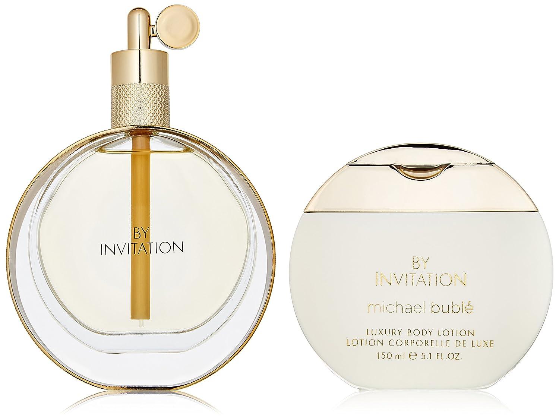 Michael Buble By Invitation for Women 2 Piece Set Includes: 3.4 oz Eau de Parfum Spray + 5.1 oz Luxury Body Lotion Elizabeth Arden