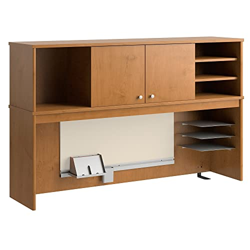 Bush Furniture Envoy 58W Hutch in Natural Cherry