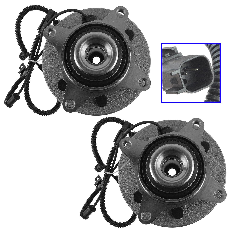 TRQ Front Wheel Bearing /& Hub Assembly Driver /& Passenger Side for Ford Pickup