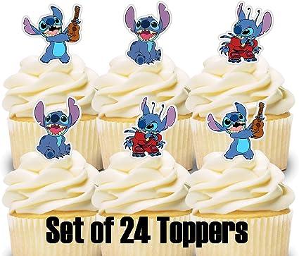 Amazon.com: 24 mini adornos para cupcakes, punto de ...