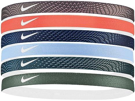 Amazon.com   Nike Swoosh Sport Headbands 6pk (Anthracite Crimson ... 2e2704542d5