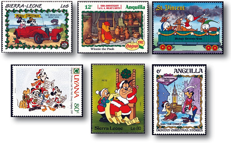 25 verschiedene Briefmarken Walt Disney /gestempelt /Briefmarken /verschiedene L/änder /postfrisch