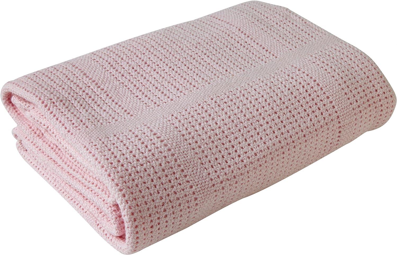 rose Couverture pour b/éb/é en coton extra doux pour landau et voyage par Clair de Lune