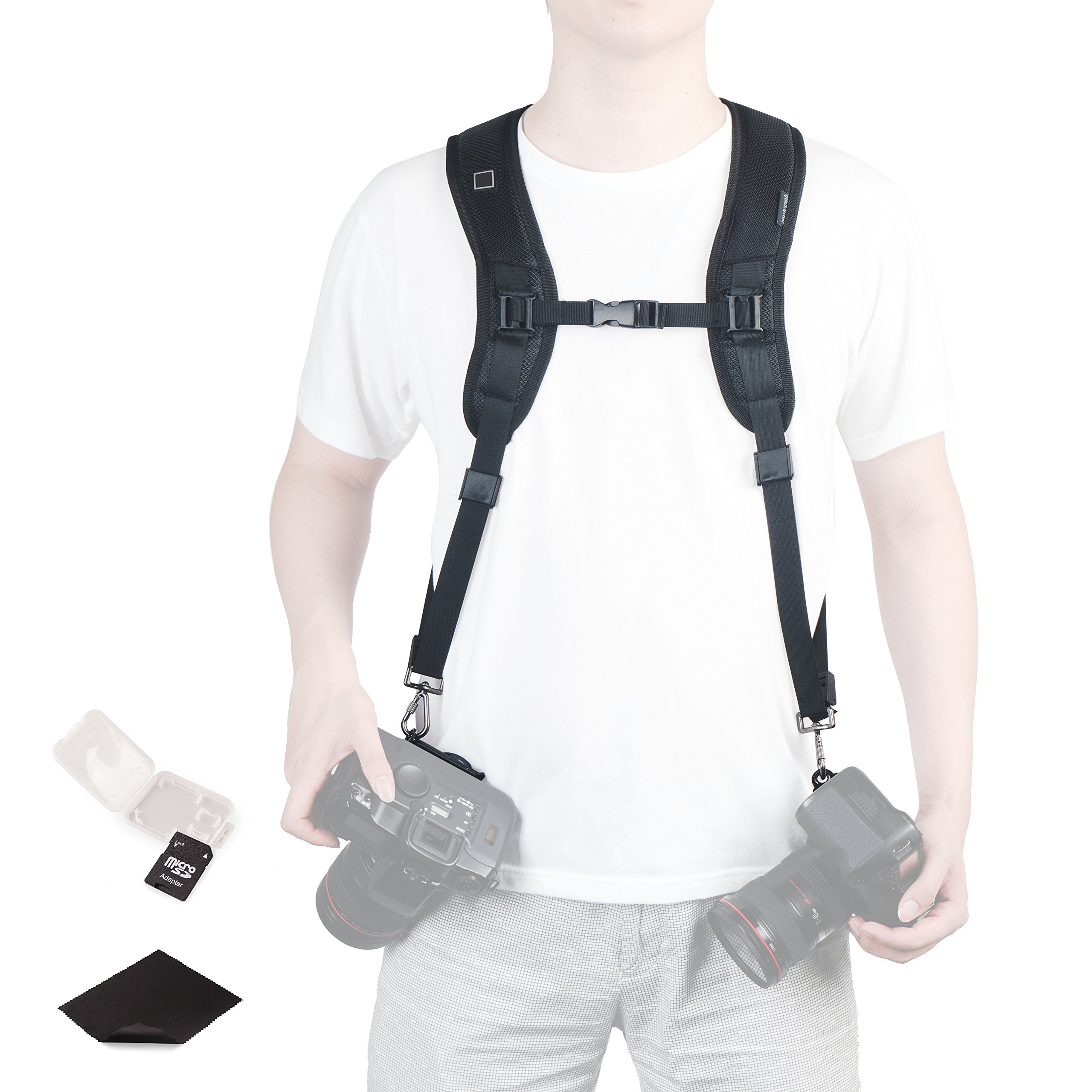 Double Shoulder Quick Release Camera Strap Rapid Fire Dual-Shoulder Camera Strap by CamZone