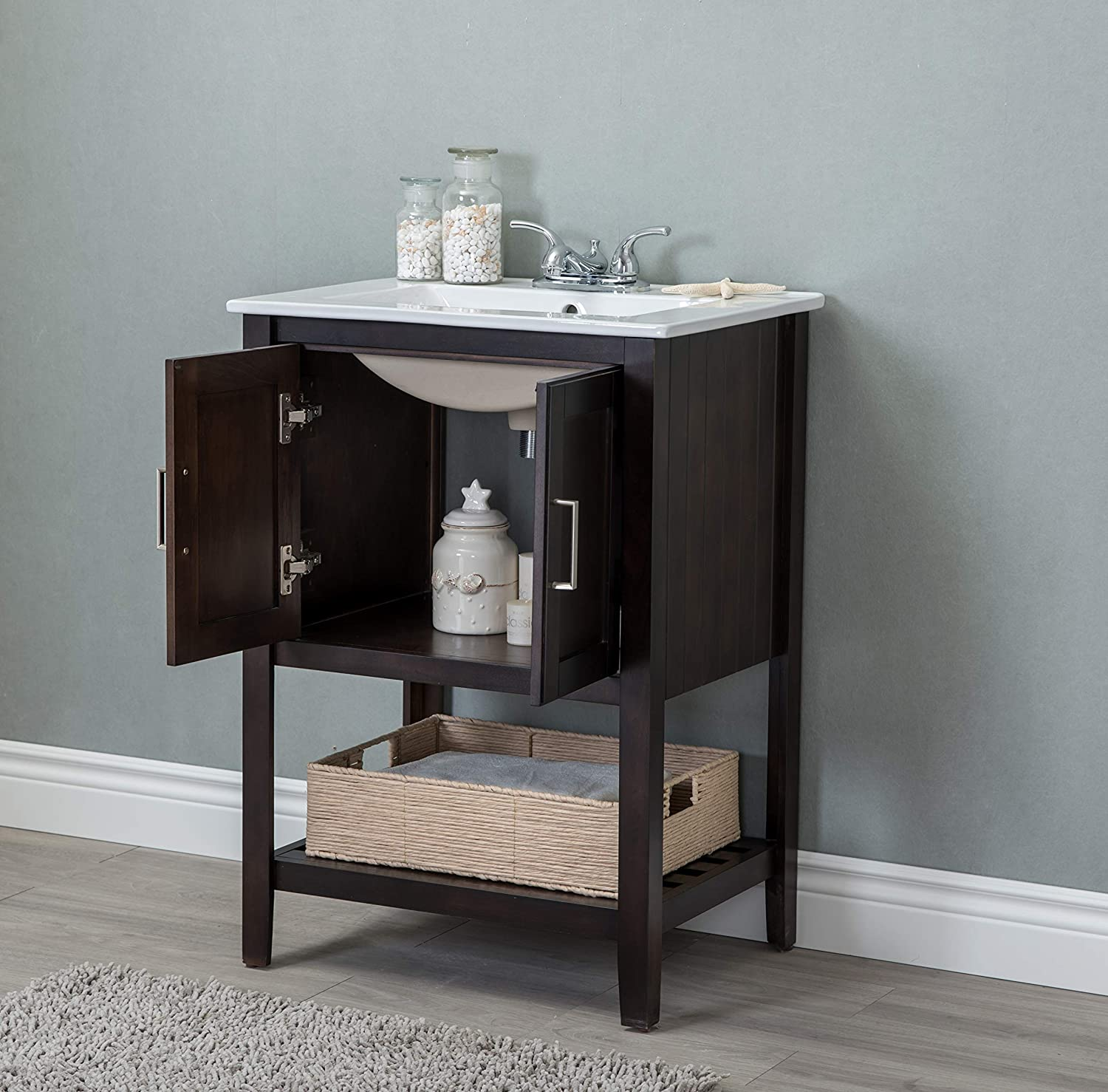 Legion furniture WLF6020-C-BS Bathroom vanity Coffee 24