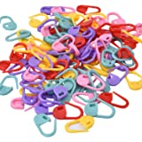 eBoot 100 Pieces Assorted Colors Knitting Crochet Locking Stitch Markers