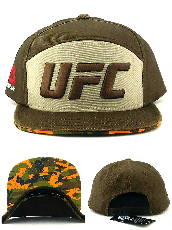 ec859578884 Amazon.com   Reebok UFC RBK MMA Fighter 5 Panel Brown Tan Camouflage Camo  Snapback Hat Cap   Sports   Outdoors